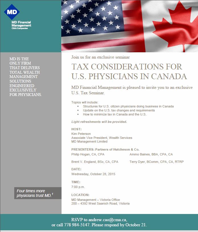 US tax seminar
